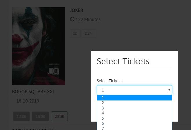 cara membeli tiket di bioskop