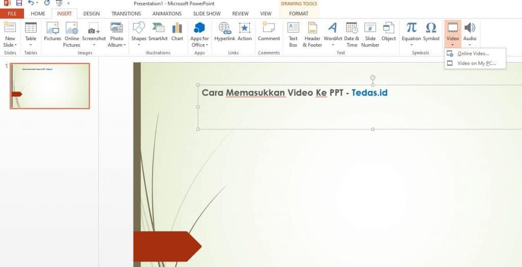 cara memasukkan video ke presentasi