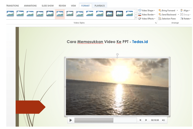 cara memasukkan video