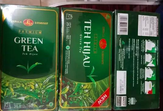 teh hijau kepala jenggot