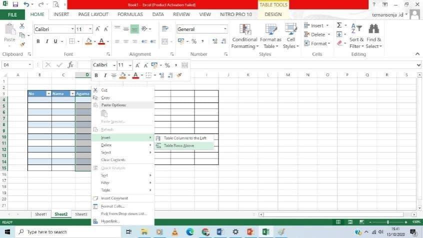 cara praktis tabel excel 2013 - 10