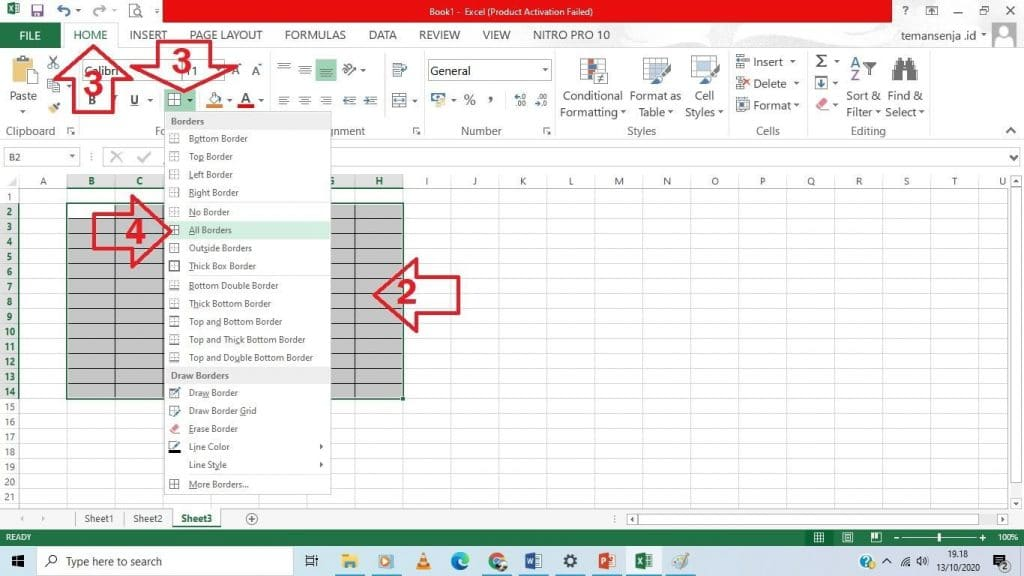 cara praktis tabel excel 2013 - 5
