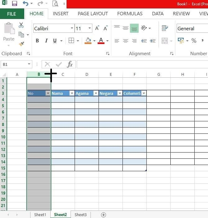 cara praktis tabel excel 2013 - 6