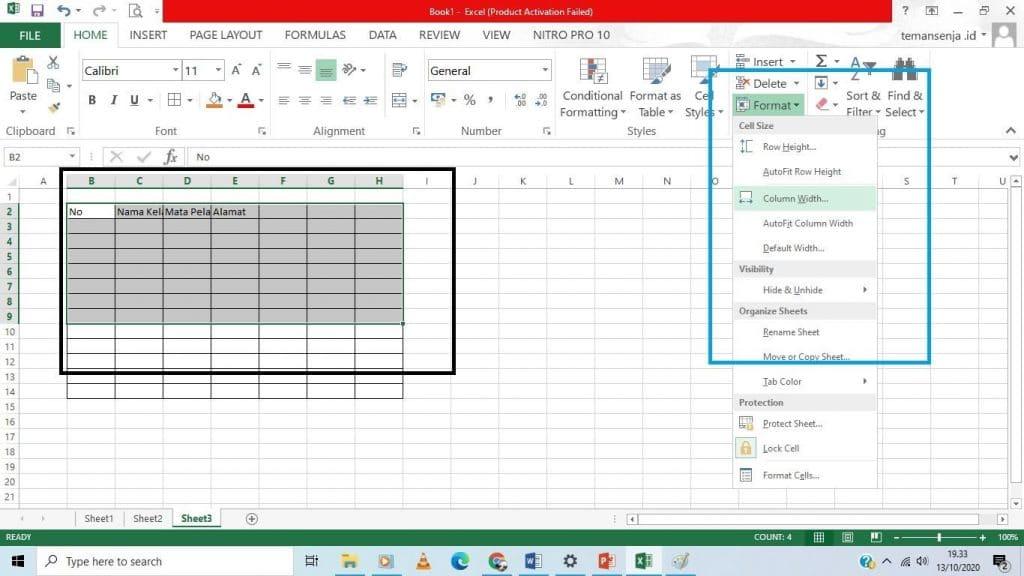 cara praktis tabel excel 2013 - 8