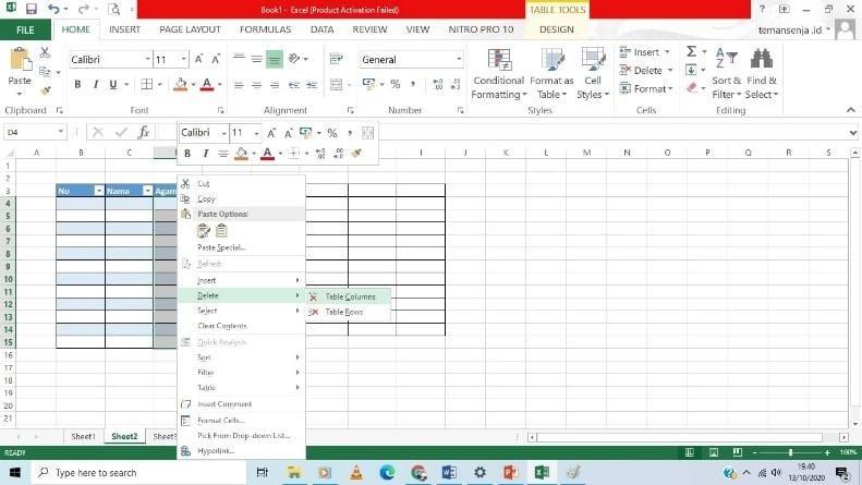 cara praktis tabel excel 2013 - 9