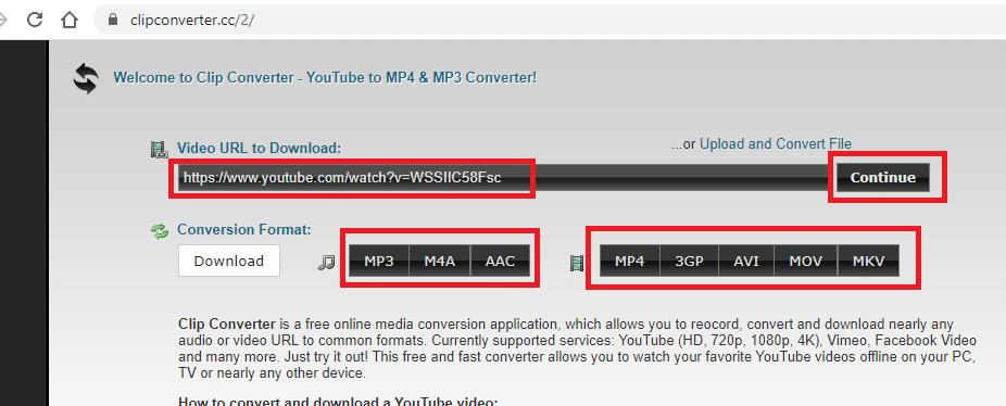 pilih format konversi file