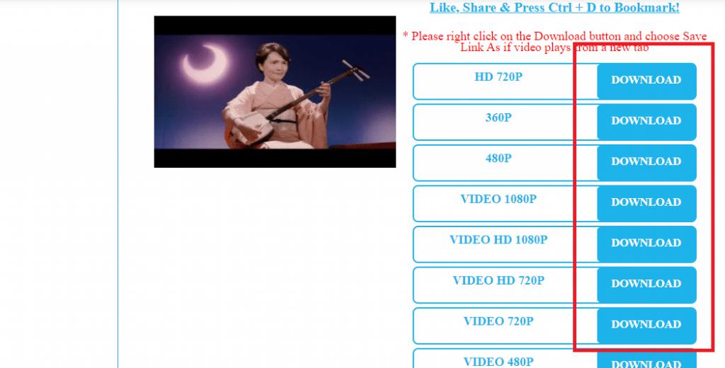 pilih ukuran video