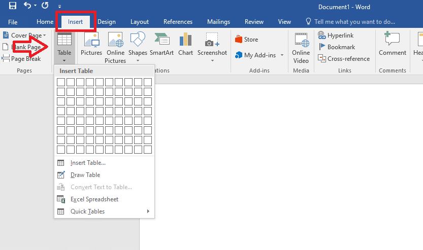 tabel kosong 1