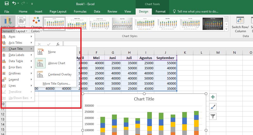 10. Cara Membuat Grafik Excel