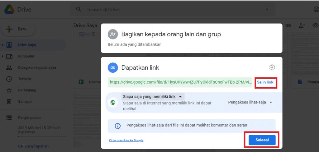 10. cara membuat link google drive