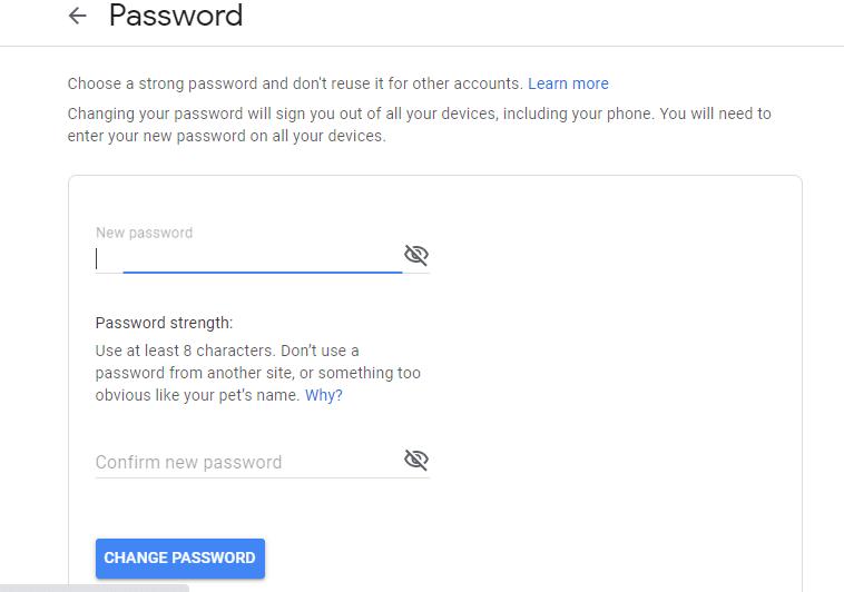 cara mengubah sandi gmail