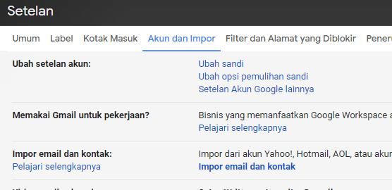 ubah sandi google