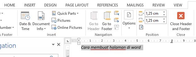 bagaimana cara membuat halaman di word