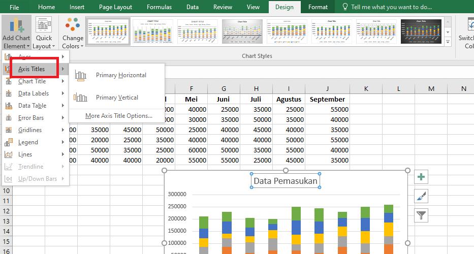13. Cara Membuat Grafik Excel
