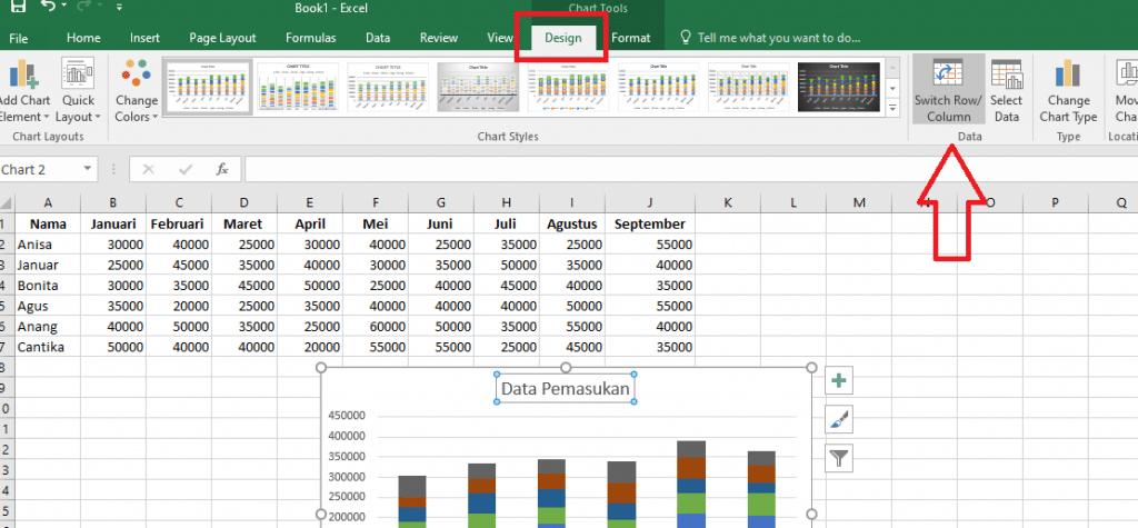 14. Cara Membuat Grafik Excel