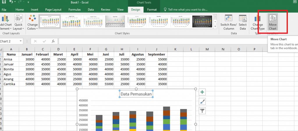15. Cara Membuat Grafik Excel