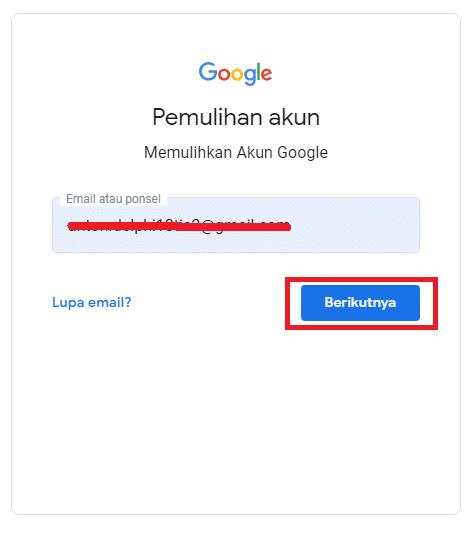 lupa password gmail dengan mudah