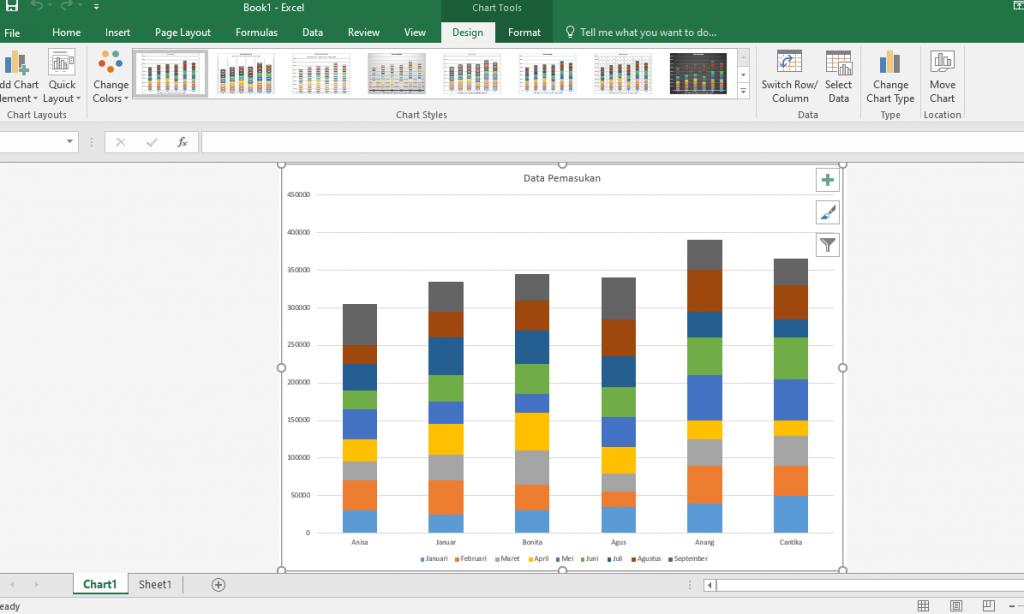 18. Cara Membuat Grafik Excel