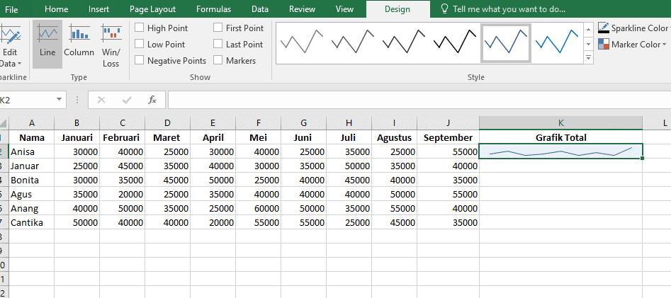 22. Cara Membuat Grafik Excel