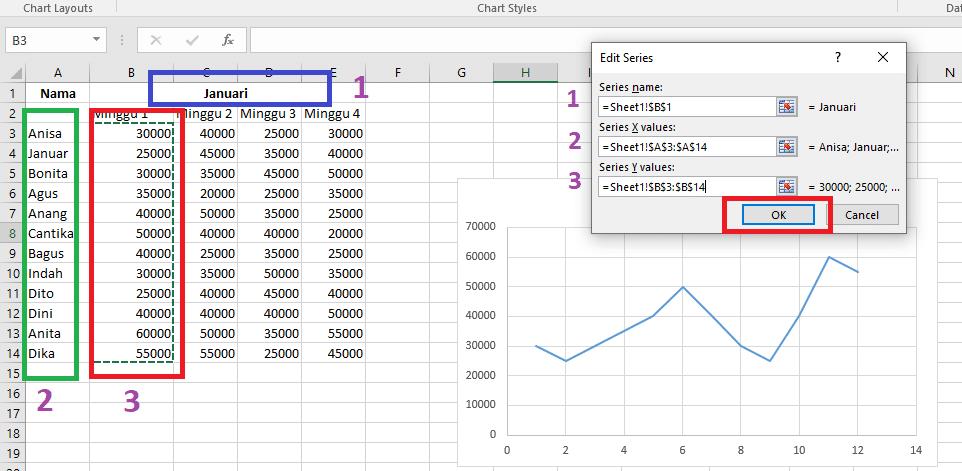 26. Cara Membuat Grafik Excel