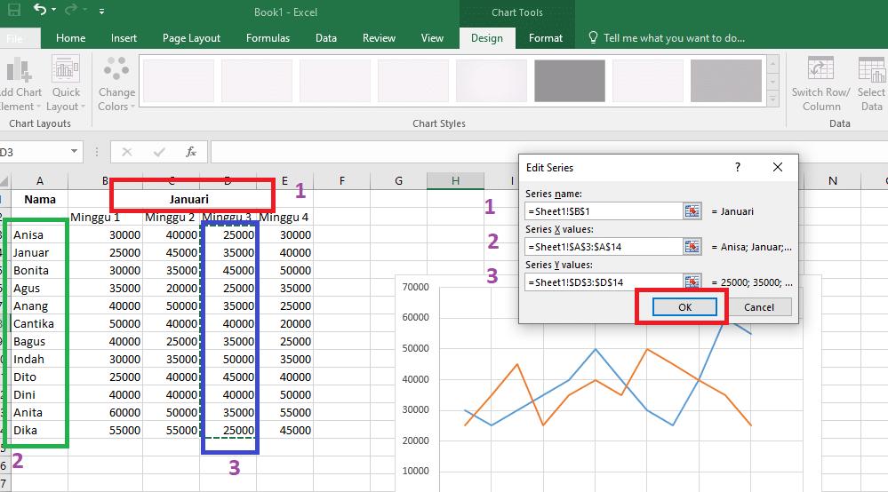 27. Cara Membuat Grafik Excel