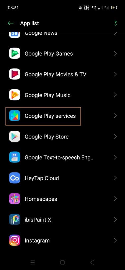 google play force stop