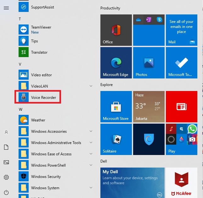 bagaimana cara merekam suara di laptop Windows 10