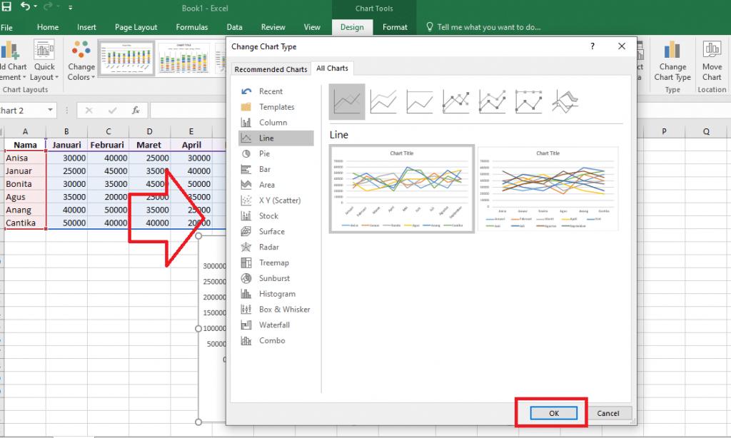 7. Cara Membuat Grafik Excel