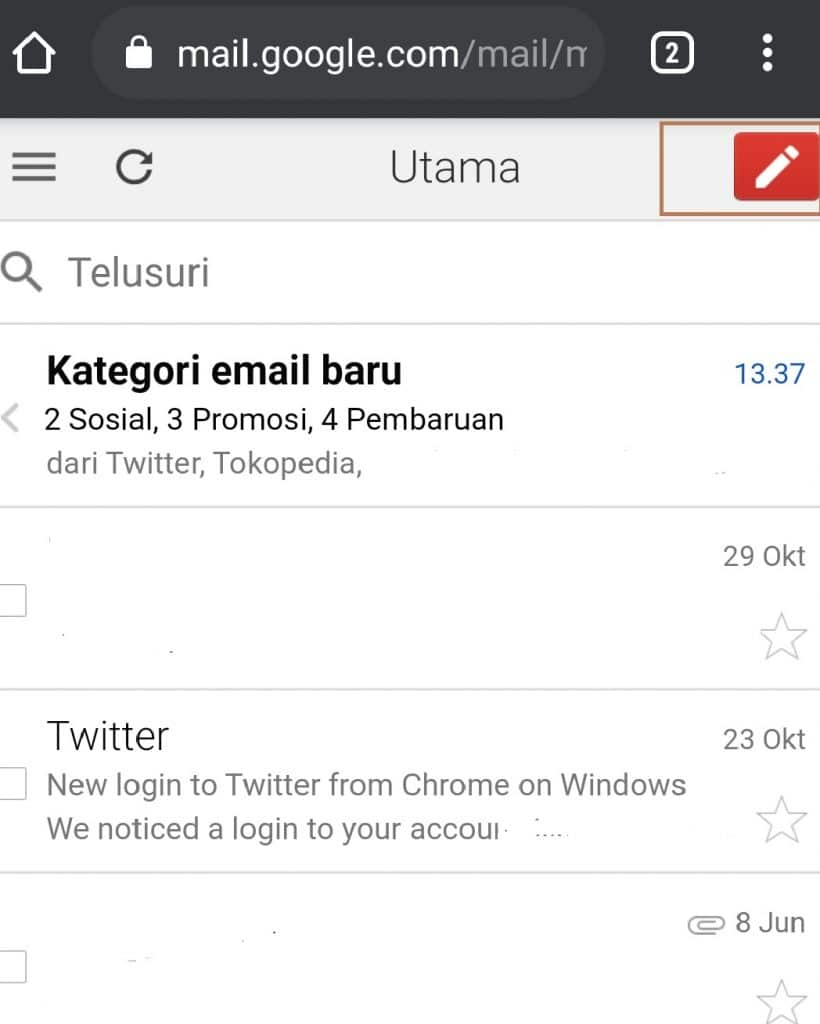 logout gmail di laptop