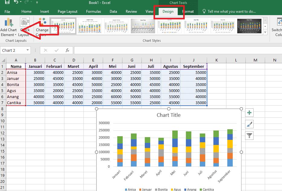 9. Cara Membuat Grafik Excel