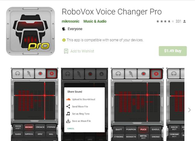 aplikasi untuk merubah suara