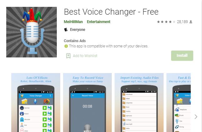 aplikasi pengubah suara android
