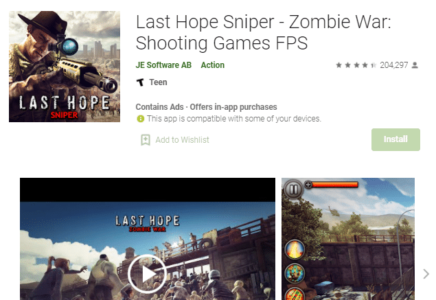 game fps offline terpopuler