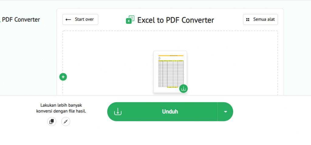mengubah excel ke pdf