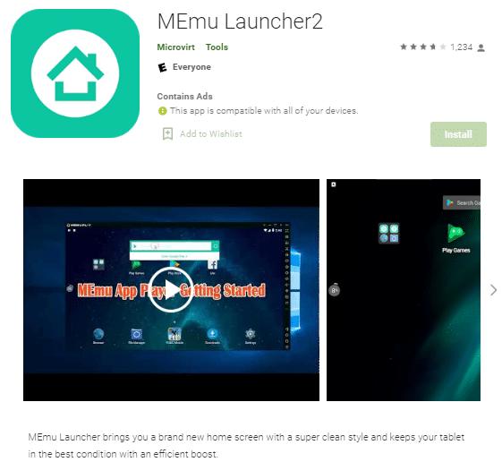MEmu Launcher2