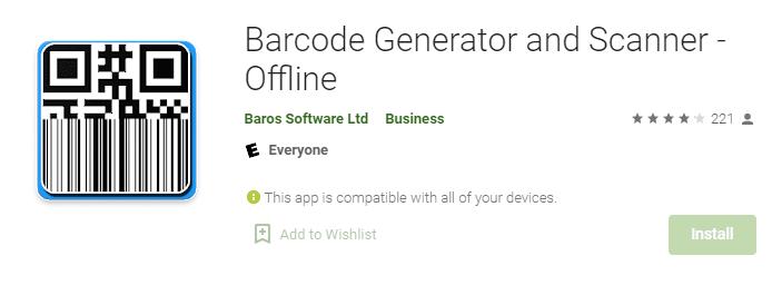 Barcode Generator and Scanner - Offline