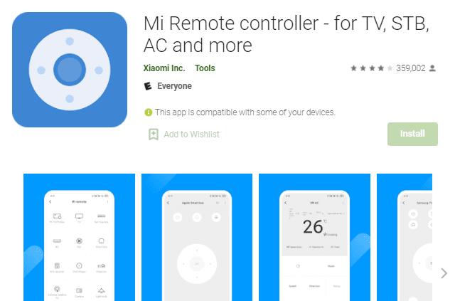 aplikasi untuk remote ac