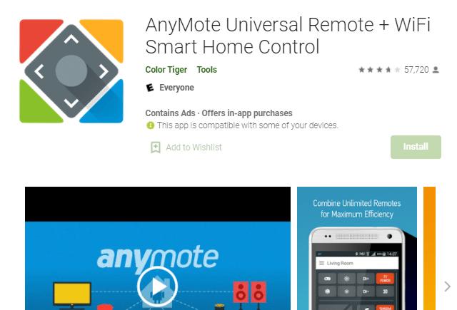 aplikasi android untuk remote ac