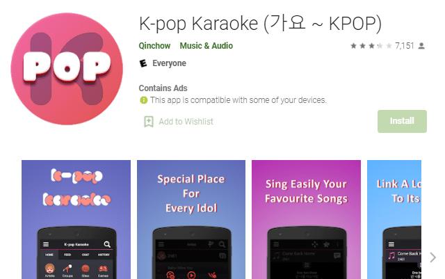aplikasi karaoke k-pop