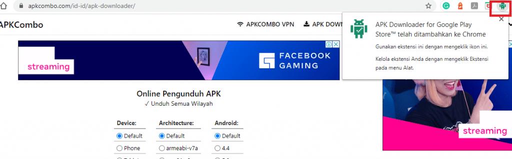 cara download apk di komputer