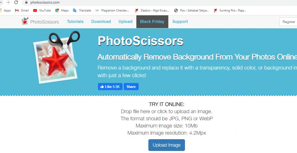 cara mengubah background foto online