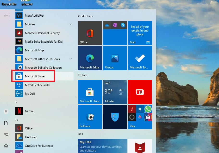 mendownload aplikasi di laptop