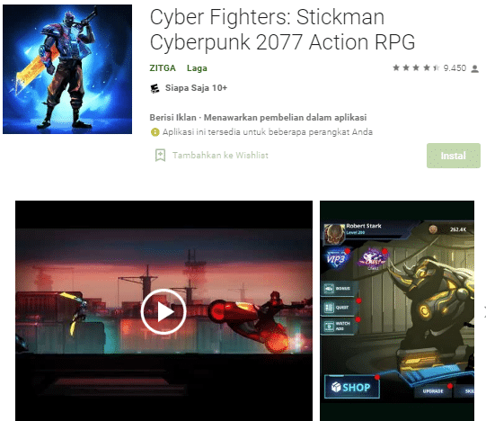 Cyber Fighters game