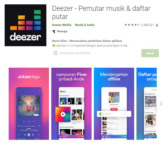 pemutar musik online terbaik