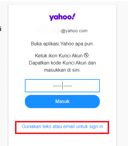 mengatasi lupa password yahoo