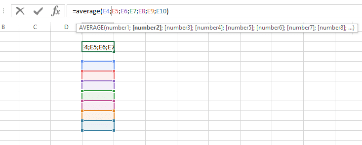 Cara Menghitung Rata Rata Berdasarkan Jumlah Kolom Excel
