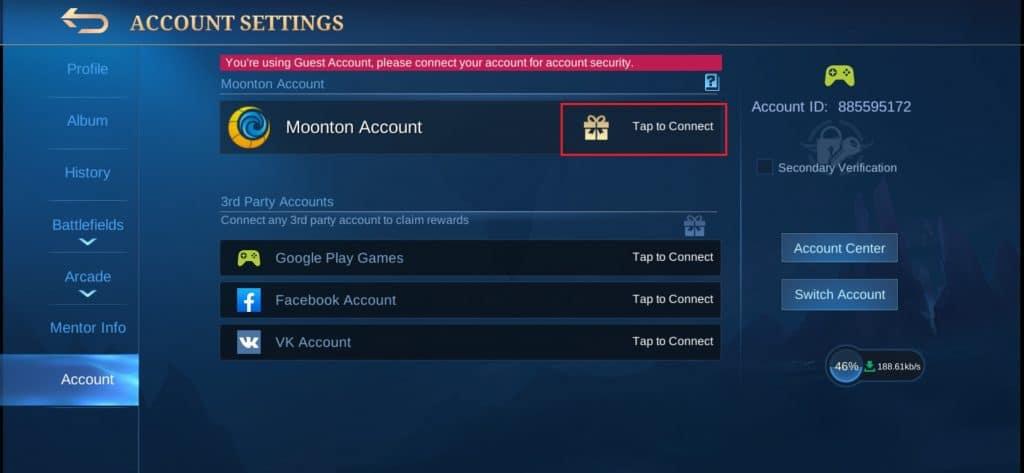 daftar akun moonton mobile legend