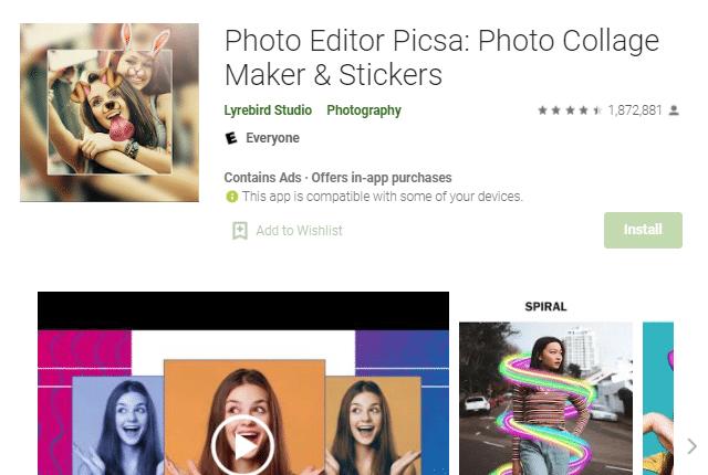 Photo Editor Picsa