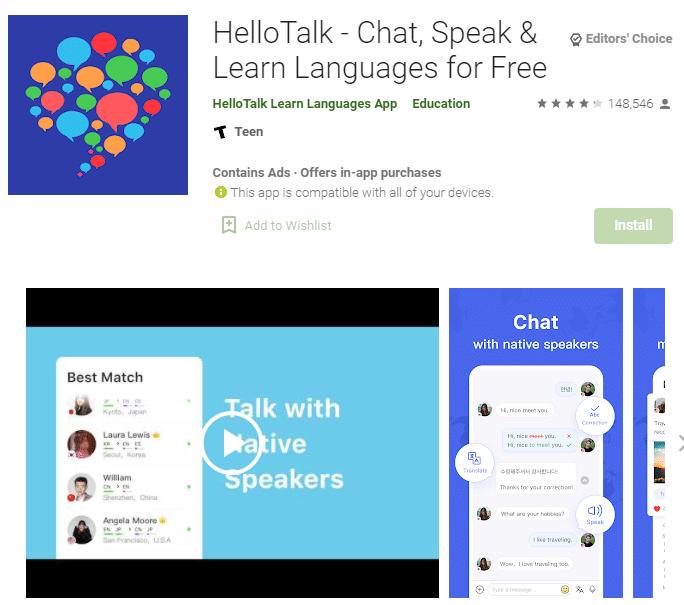 aplikasi Hello Talk
