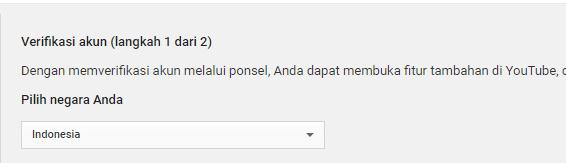 cara verifikasi youtube